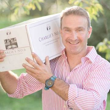 Kier Roger with a box of Charlie Number 6