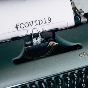 #Covid19 being typed on a typewriter