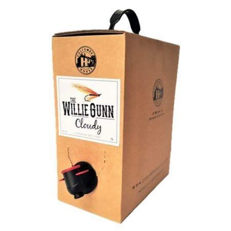 The Willie Gunn Cloudy bag in box cider