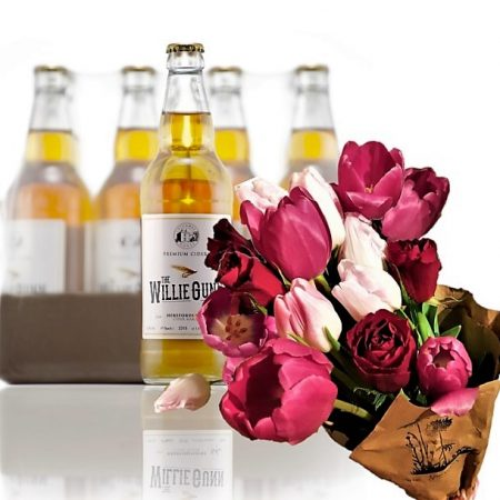 cider case & flowers
